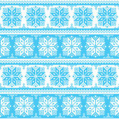 Nordic seamless christmas blue pattern — Stock Vector