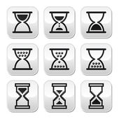 Hourglass, sandglass vector icon set — Stock Vector