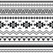 Stock Vector: Aztec mexican seamless pattern