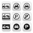 No parking, cars buttons set — Stock Vector #31524975