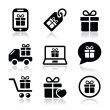 Present, shopping vector icons set — Stock Vector #31528607