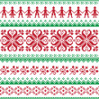 Nordic seamless knitted red and green pattern — Stock Vector #31916271