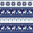 Scandynavian knitted seamless pattern with deer — Imagen vectorial