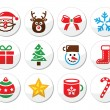 Christmas, santa vector icons set — Stock Vector