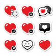 Heart, love vector icons set — Stock Vector #33285033