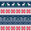 Stock Vector: Winter christmas seamless pattern with reindeer