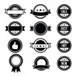 Retro round badges, vintage labels set - vector — Stock Vector