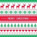 Merry christmas mönster med rådjur - scandynavian tröja stil — Stockvektor  #34870069