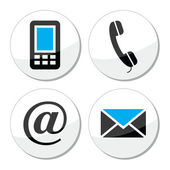 Contact web and internet vector icons set — Wektor stockowy