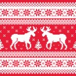 Christmas and Winter knitted pattern with reindeer — 图库矢量图片 #35183351