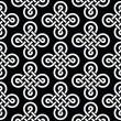 Celtic irish knots seamless pattern, vector background — Stock Vector