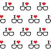 Ja mi³oœæ degenerat, okulary wzór — Wektor stockowy