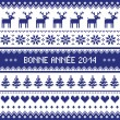 Bonne Annee 2014 - french happy new year pattern — Stock Vector