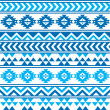 Aztec tribal seamless blue and navy pattern — Stock Vector