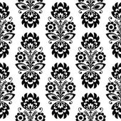 Seamless traditional floral polish pattern - ethnic background — Vettoriale Stock