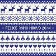 Felice Anno Nuovo 2014 - italian happy new year pattern — Stock Vector