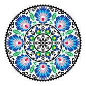 Polish traditional folk pattern in circle — Stock Vector