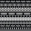 Aztec tribal seamless black and white pattern — Stock Vector #37388293