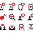 Love, couples, Valentine's Day icons set — Stock Vector #38979643