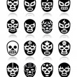 ������, ������: Lucha libre mexican wrestling masks icons