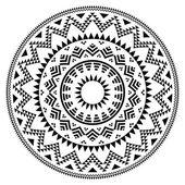Tribal folk aztec geometric pattern in circle — Stock Vector