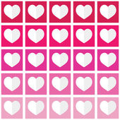 Seamless ombre pattern with hearts - Valentine's Day, love concept — Stock Vector