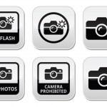 No photos, no cameras, no flash buttons — Stock Vector