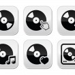 Vinyl record, dj vector buttons set — Stock Vector #42113701