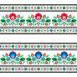 Seamless Polish folk pattern with flowers — Stock Vector #42339695