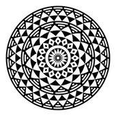 Tribal aztec geometric pattern or print in circle - folk — Stock Vector