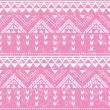 Tribal pattern, pink aztec print - old grunge style — Stock Vector