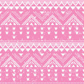 Tribal pattern, pink aztec print - old grunge style — Vector de stock