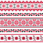 Ukrainian folk emboidery pattern or print — 图库矢量图片