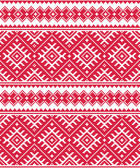 Ukrainian red seamless folk emboidery pattern or print — Stock Vector