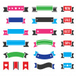 Retro ribbons, colorful vintage bookmarks set - vector — Stock Vector #45415173