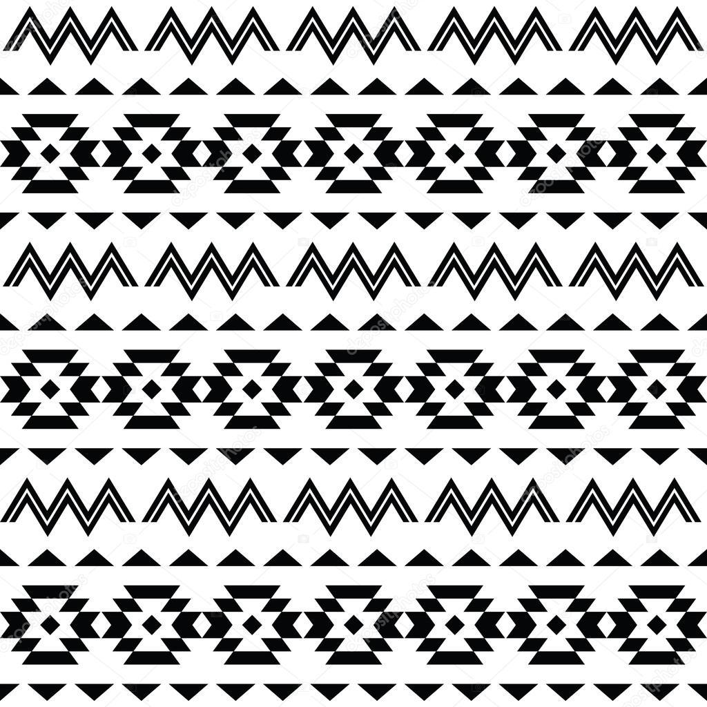 Motif tribal, fond transparent aztèque — Image vectorielle ...