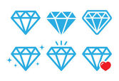 Diamond luxury vector icons set — Stock Vector