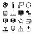 Web, internet simple black vector icons set — Stock Vector