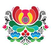 Norwegian folk art pattern - Rosemaling style embroidery — Stock Vector