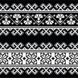 Ukrainian, Slavic seamless folk embroidery pattern on black — Stock Vector #47208851