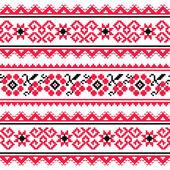 Ukrainian folk art embroidery pattern or print — Stock Vector