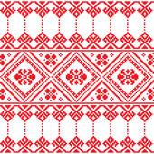 украинского народного искусства цветочный узор вышивки или печати — Cтоковый вектор
