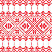 Ukrainian folk art floral embroidery pattern or print — Stock Vector