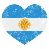 Argentina retro heart shaped flag — Stock Vector