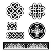 Celtic Irish patterns and braids - vector — Stock Vector