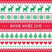 Bonne Annee 2015 - French happy new year pattern — Stock Vector