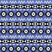 Tribal Aztec seamless pattern on purple background — Stock Vector