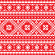 Ukrainian, Slavic folk art knitted red and white embroidery pattern — Stock Vector #50195865