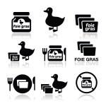 Foie gras, duck or goose icons set — Stock Vector #50405371
