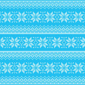Winter, Christmas blue seamless pixelated pattern with snowflakes — Stock Vector
